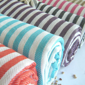 NATURAL soft Turkish Towel, Peshtemal, Bath and beauty, beach towel, bath towel, picnic towel, Spa Towel, Gray, Grey Striped, mother's day