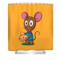 Twitch the Mouse Shower Curtain for Sale by Ruth Moratz