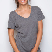 Jenna Basic Top - Gray