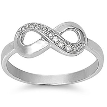 NEW ARRIVAL! INFINITY LOVE INFINITY KNOT SOLID STERLING SILVER RING SIZES 5-10