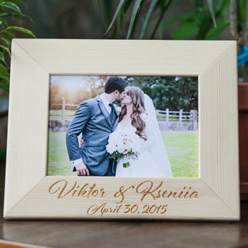 Personalized Photo frame,  Engagement Gift, Gift for couple, Engagement Gift, Wedding frame, Wedding Countdown, Bridal Shower Gift, Keepsake