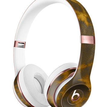 Micro Golden Giraffe Pattern Full-Body Skin Kit for the Beats by Dre Solo 3 Wireless Headphones
