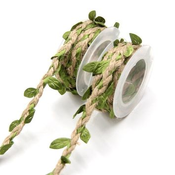 Artificial Leaves Twine String With Leaf Silk Leaves Flower Garlands