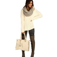 Sale-ivory Cable Knit Sweater