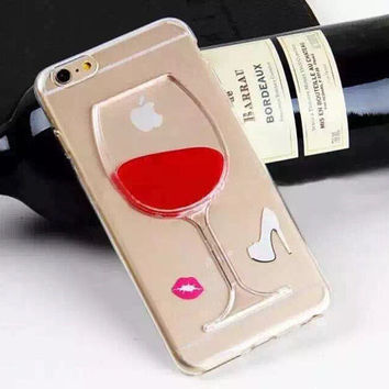 Red Wine iPhone Case - 3D Wine Glass