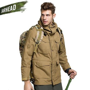 Classic American Outdoor Coats High Quality Men's Waterproof Windproof Hunting Middle Long Coat M65 Tactical Windbreaker Trench
