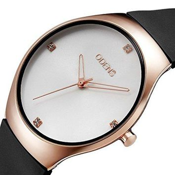 Womens Quartz Rhinestone Gold Watch with Rubber Watch BandCasual Sports Dress Analog Wrist Watches for Girls
