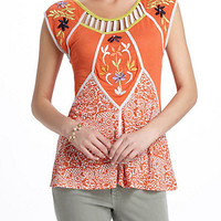 Carrot Flower Cutout Top