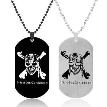 Fashion necklace Stainless Steel Skull Antique Silver necklaces & pendants