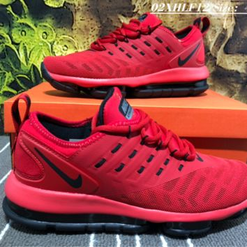 Nike 2019 New Air Max Vapormax Plyknit Running Shoes Red