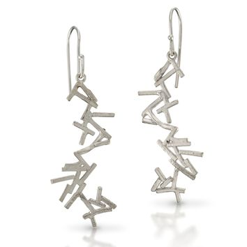ALL NEW Astro Pick Up Sticks Silver Earrings