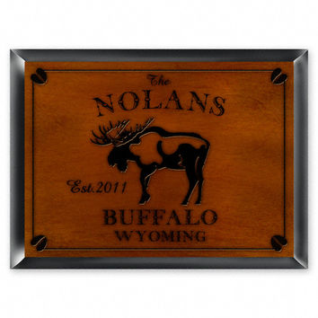Cabin Series Traditional Sign - Moose
