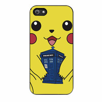 Pokemon Pikachu With Tardis Public Police Box iPhone 5s Case