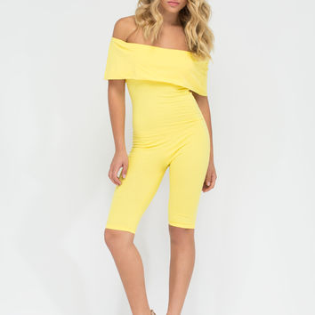 Retro Bae Off-Shoulder Cropped Jumpsuit
