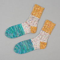 """VAN GOGH"" SLUB SOCKS, YELLOW :: HICKOREE'S"