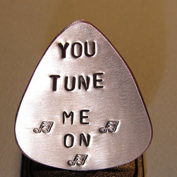 Guitar Pick Handmade from Copper Stamped with You by NiciLaskin