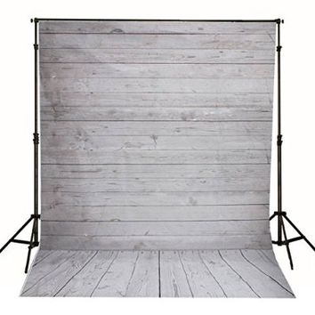 Mohoo 5x7ft Photography Background Photo Backdrops Vinyl White Wood Floor Props for Studio