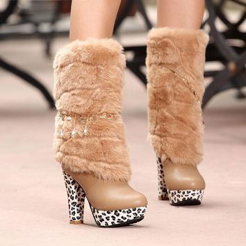 VLX2WL Hot Deal On Sale High Heel Club Sexy Stylish Metal Chain Boots [9432960394]