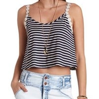 Daisy Chain Striped Swing Crop Top