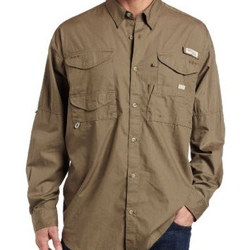 Columbia Men's Bonehead Long Sleeve Shirt, Sage, Medium