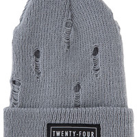 The Destroyed Beanie in Heather Gray