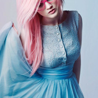 Cotton Candy PASTEL Pink  // (2) Human  Hair Extensions // Clip-In