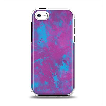The Purple and Blue Paintburst Apple iPhone 5c Otterbox Symmetry Case Skin Set