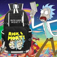 anime Cartoon Fun Rick And Morty Backpack Student School Bags travel Shoulder Laptop Bag bookbag men women Rucksack
