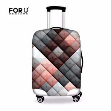 FORUDESIGNS Thickened Luggages Protective Cover for 18-30 Inch Trolley Cases Elastic Suitcases Bag Dustproof Fashion Case Covers