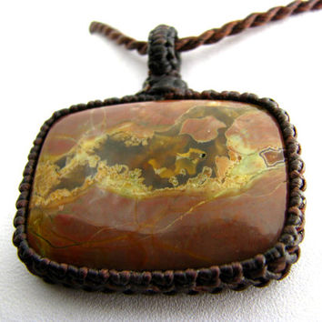 Butterfly Wing / Jasper Necklace / Mariposa / Butterfly jewelry / Earth tones / Rare / One of a kind / Jasper Jewelry / May finds