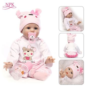 Doll Reborn 55CM Soft Silicone Baby Dolls Vinyl Toys For Girls 3-7 Years Old Baby Dolls With Blouse Cloth