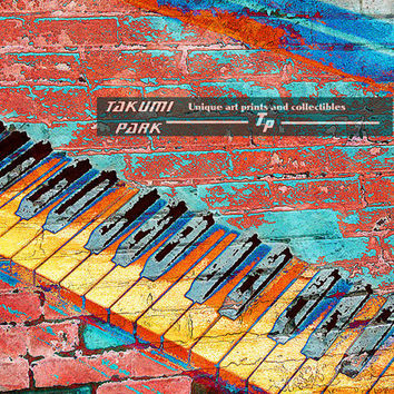 Colorful Piano Art Print, 8x10, 11x14,16x20, Music Artwork, Piano Key Art, Large Wall Art, Home Wall Decor, Urban Art, Gift For Music Lover
