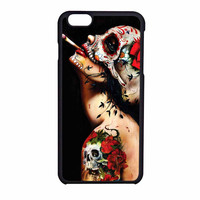Floral Sugar Skull Tattooed iPhone 6 Case