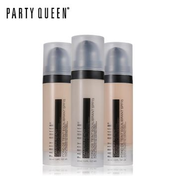 Party Queen Liquid Face Foundation Oil Control Whitening Moisture Conceal Highlight Waterproof Full Coverage Base Finish Makeup
