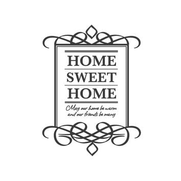 wall quotes wall decals - Home Sweet Home