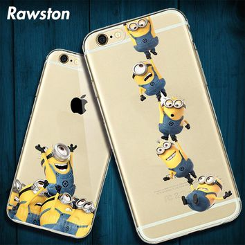 Funny Minion Soft TPU Case Cover for funda iPhone SE 5 5s 6 6S 7 8 mobile phone Cases iphon capinhas Butts Sexy Design