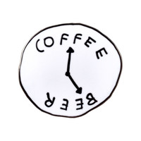 VALLEY CRUISE PRESS COFFEE BEER CLOCK PIN
