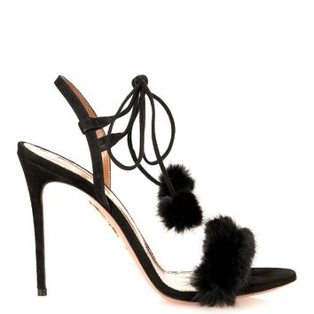 Fancy Nancy mink-fur sandals | Aquazzura | MATCHESFASHION.COM US