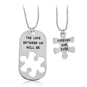 2pcs Lovers Couples Gift Necklaces