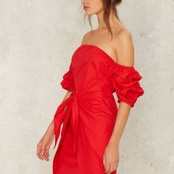 In the Bag Off-the-Shoulder Dress