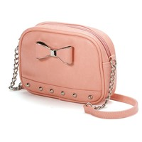 Candie's Bow Crossbody Bag (Pink)