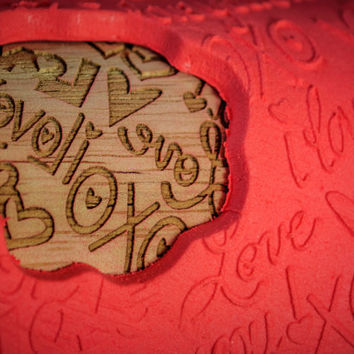 Valentine's Day Pattern - I love you,Engraved rolling-pin Embossed Rolling Pin Custom Rolling pin, Gift for Her, Solid Maple Made in the USA