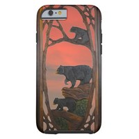 Rustic, Mama Bear and Cubs, Sunset iPhone 6 Case