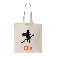 Witch Trick or Treat Bag, Personalized, Custom Halloween bag