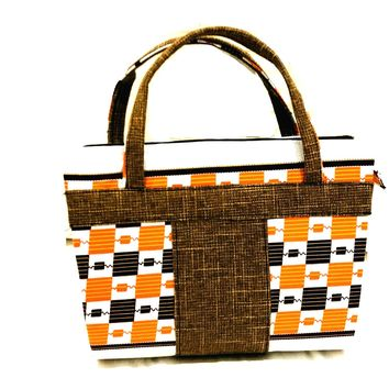 Jebbah Kente African print Tote and cosmetic bag