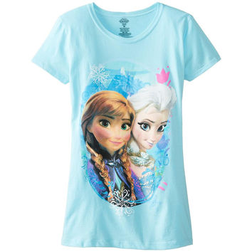 Frozen - Elsa and Anna Scene Girls Juvy T-Shirt