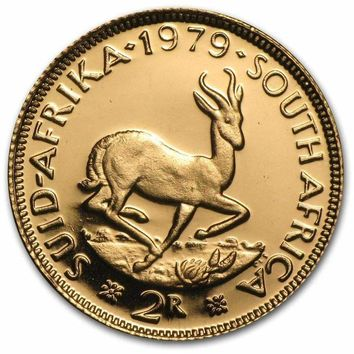 1962-1980 South Africa Proof Gold 2 Rand (Random Year)