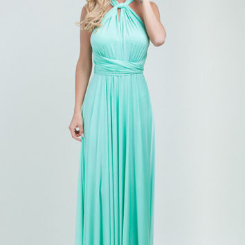 Marilyn Multi-Way Maxi Dress - Mint