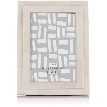 "Isla Natural Bone Frame 5"" x 7"" - All - Oliver Bonas"