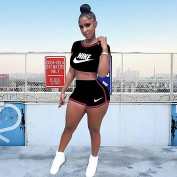 Nike Womens Two Piece T-Shirt and Shorts Set Clothing  A6213